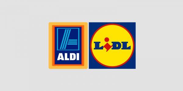 Aldi and Lidl logos