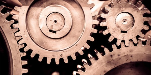 Gears in manufacturing equipment