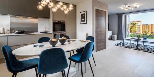 Internal shot of kitchen/dining space